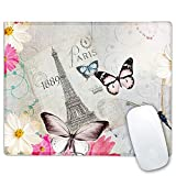 RICHEN Mouse Pad, Art Design Mouse Mat, Anti Slip Floral Mousepad for Desktop, Computer, PC and Laptops, Personalized Mouse Pad for Office and Home, Rectangle 10.23 x 8.27 inch (1889 Paris)