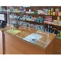 Mampara Proteccion Mostrador 75x68 cm Irrompible, lavable, transparente y montaje sin herramientas.