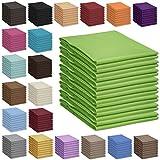 Qool24 Bettlaken 100% Baumwolle Betttuch Haustuch ohne Gummizug 30 Farben und 4 Größen Grau 150x240 cm