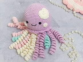 Preemie octopus with heart Crochet Octopus Preemie doll Amigurumi octopus Stuffed Octopus rattle Baby Toy Baby Gift Octopus Crochet Toy