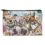 Pet Animals Selfie Dogs Cats Rabbit Hamster Guinea Pig Makeup Cosmetic Bag Organizer Pouch