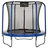 SKYTRIC 8 FT Round Trampoline Set with Premium Top-Ring Flex Frame...
