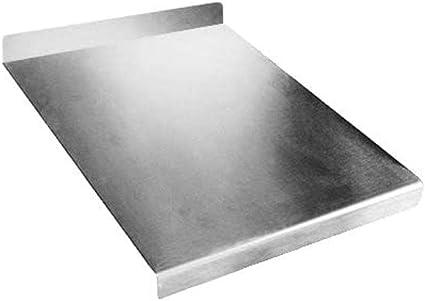 Zeroinox Tagliere In Acciaio Inox Varie Misure Con Alzatina Per Proteggere Il Piano Della Cucina Profondita 50 Cm L120 X P50 X Piega 3cm X Alz 7cm Amazon It Casa E Cucina