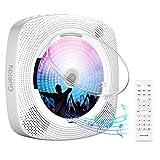 Gueray Portátil Bluetooth Reproductor de CD con Cubierta Antipolvo Control Remoto Radio FM...