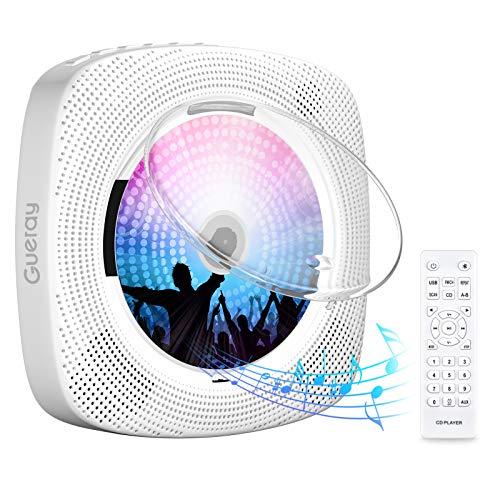 Gueray Portátil Bluetooth Reproductor de CD con Cubierta An