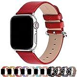 Fullmosa Compatible avec Bracelet Apple Watch 38mm/40mm,Bracelet iWatch Series SE/6/5/4/3/2/1 Band en Cuir de Remplacement pour Femme Homme YanSeries,Rouge,38mm/40mm
