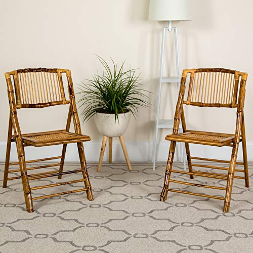 Flash Furniture 4 Pk. American Champion Bamboo Folding Chair