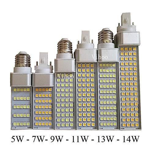 5w 7w 9w 11w 13w 14w g23 g24 e27 led lamp 5050smd Warm Wit Koel Wit 85v-265v Spotlight 180 graden Horizontale Plug Light