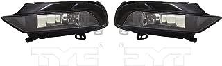Fits 2015-2016 Audi A3 Pair Driver and Passenger Side Fog Light With w/Bulbs AU2592120 AU2593120 - Replaces 8V0 941 699 B 8V0 941 700 B ;CABRIO; w/o Sport Pkg