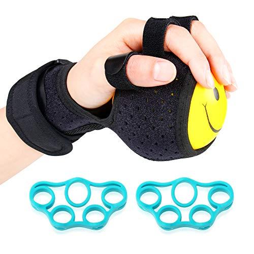 REAQER Finger Trainingsgerät, Finger Geräte Trainingsgeräte Ball Splint Hand Hemiplegie Rehabilitation Training Hand Einstellbare Finger Handgelenk orthotics Trainingsgerät