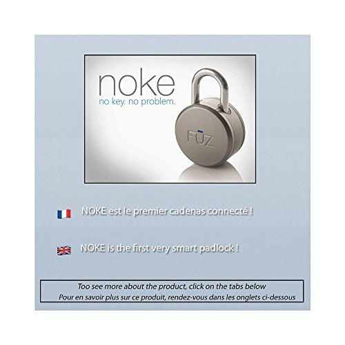 Noke Padlock - Keyless Bluetooth Smart Padlock, Black