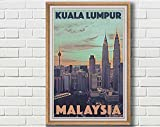 Poster Kuala Lumpur Vintage – Retro Kunstdruck Malaysia  