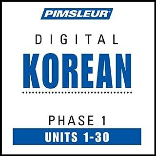 Korean Phase 1, Units 1-30 audiobook cover art