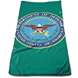 Hipiyoled U.s. Department of Defense US Army Printed Hand Bath Towels Lightweight Large Towels for Bathroom, Hotel, Gym and SPA