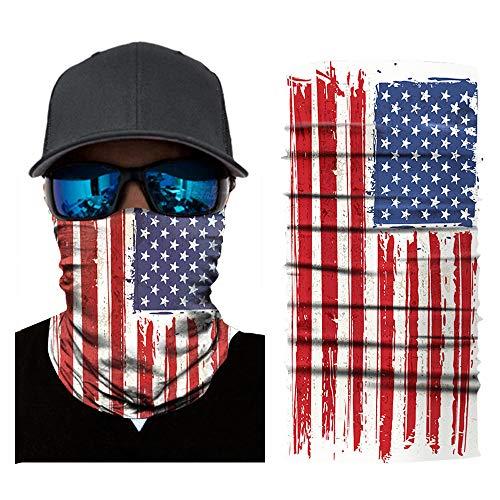 American Flag Face Shield for Men Women Neck Gaiter Headwear Face Sun Mask Magic Scarf Bandana Headband for Motorcycle Cycling Fishing Skiing Normal Flag