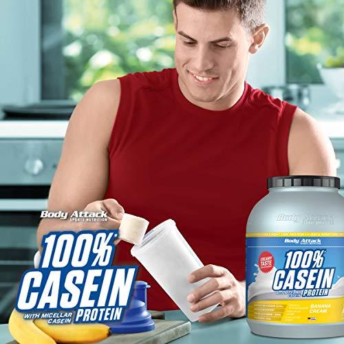 Body Attack 100% Casein Protein Cookies & Cream, 1er Pack (1 x 1.8 kg) - 6