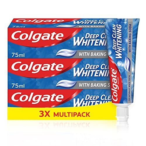 Colgate Deep Clean with Baking Soda Toothpaste, 75ml (Pack of 3)