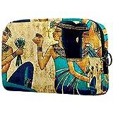 Neceser de Maquillaje para Neceser Estuche de Viaje cosmético Organizador Estuche para cosméticos Monedero,Pintura Egipcia Vintage