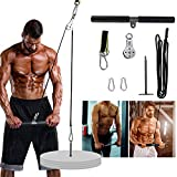 PELLOR Pulley Cable Machine, Fitness LAT and Lift Pulley System, Pulley System Gym for Triceps Pull Down, Biceps Curl, Back, Forearm, Shoulder-Home Gym Strength Training Equipment