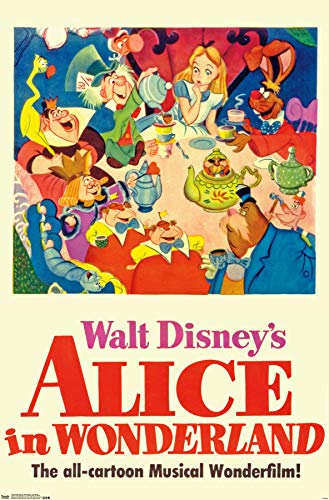 Trends International 24x36 Alice in Wonderland-One Sheet Premium Wall Poster, 22.375' x 34'