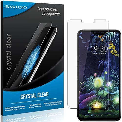 SWIDO Schutzfolie für LG V50 ThinQ 5G [2 Stück] Kristall-Klar, Hoher Festigkeitgrad, Schutz vor Öl, Staub & Kratzer/Glasfolie, Bildschirmschutz, Bildschirmschutzfolie, Panzerglas-Folie