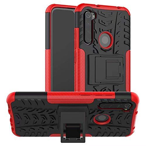 Capa Capinha Anti Impacto Para Xiaomi Redmi Note 8 Normal Tela 6.3 Case Armadura Hybrid Reforçada Com Desenho De Pneu - Danet (Vermelho)