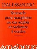 DE ALESSANDRO R. - Serenata Op.12 para Saxofon Alto (Corno Ingles) y Piano (Meylan)