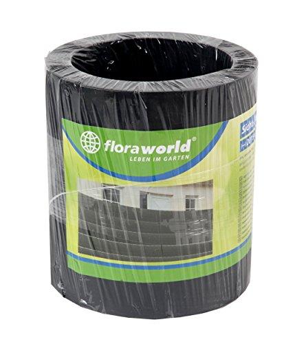 Floraworld 017399 Sicht-/ Wind- und Objektschutz Comfort 5er Set, Anthrazit, 201,5 x 17 x 19 cm