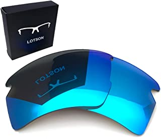 LOTSON Replacement Dark Ice Blue Polarized Lenses for Oakley Flak 2.0 XL OO9188