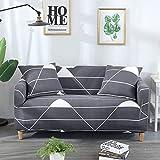 Fundas de sofá elásticas geométricas para Sala de Estar Funda de sofá Moderna para Silla de sofá de Diferentes Formas Funda de sofá Estilo L A18 4 plazas