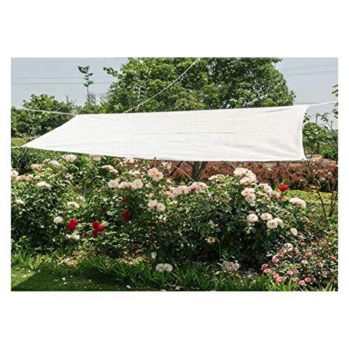 LSSB Paño De Sombra Al Aire Libre HDPE Anti-UV Blanco Malla De Sombreo para Patio Balcón Protección Solar del Coche La Cubierta Vegetal Pantalla De Jardín, Personalizable