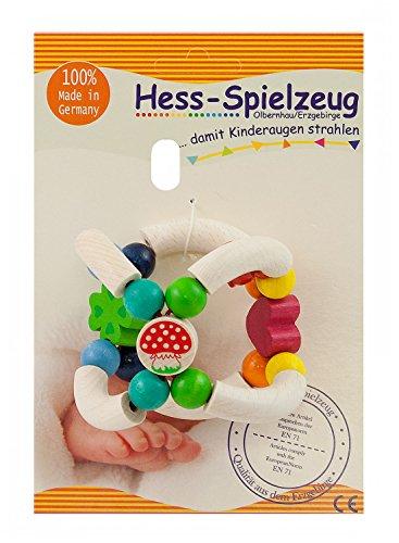 Hess Figurine en Bois pour bébé avec chaîne à Clip