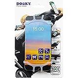 Dooky Universal Soporte para teléfono móvil, para Smartphone para el cochecito (para todas las marcas y modelos de móviles, adecuado para el asiento trasero de la bicicleta y el coche), Transparente
