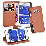 Cadorabo Hülle für Samsung Galaxy ACE 4 LITE in Schoko BRAUN - Handyhülle mit Magnetverschluss, Standfunktion & Kartenfach - Hülle Cover Schutzhülle Etui Tasche Book Klapp Style