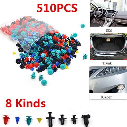 8 sortes dernière 510 pcs mixtes pour accessoires auto Fermeture support à clip Rivet Retainer