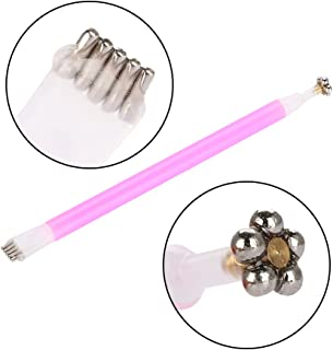 Double-headed Magnetic Nail Art Tool, Painting Dotting Plum Flower Pattern Pen for Cats Eyes Polish Gel Manicure Painting