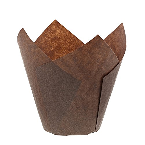 Royal Brown Tulip Style Baking Cups, Medium Case of 2000