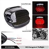 Luz trasera LED integrada Humo Luz de freno trasera de perfil bajo para Harley Dyna Super Electra Glide Heritage Low Rider Road King XL FXDL 833 1200