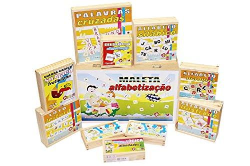 Carlu Brinquedos - Maleta Alfabetização Jogo Educativo, 4+ Anos, Multicolorido, 1108