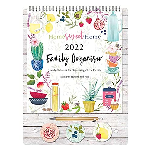 2022 Family Organiser Calendar with Pegs and Pen – Home Sweet Home 0268