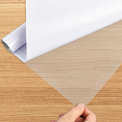 Annvchi Selbstklebende Folie, Wandschutzfolie, Selbstklebende Folie 40 x 500 cm Durchsichtiges Plastikblatt, Möbelfolie, Ölbeständig, Transparente Folie