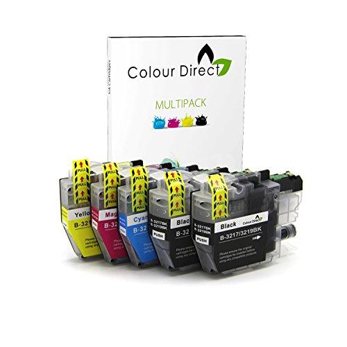 Colour Direct - 5 (1 Set + 1 Schwarz) Kompatibel Tintenpatronen Ersatz Zum Brother LC3219 (LC3217) MFC-J5330DW, MFC-J5335DW, MFC-J5730DW, MFC-J5930DW, MFC-J6530DW, MFC-J6930DW, MFC-J6935DW Drucker