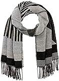 PIECES PCBELINA Long Scarf Noos Bufanda, Detalles: Pattern W Stripe Graphical/Black, Talla única para Mujer