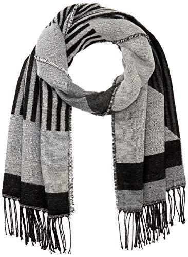 PIECES Damen PCBELINA LONG SCARF NOOS Schal, Detail:Pattern W Stripe-Graphical/Black, ONE SIZE