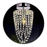 Llslls Lámpara de araña Moderna Lámpara de Techo Colgante de Cristal Lámpara de Techo Luz de Techo Lámpara Colgante de Cristal Pantalla de Acabado Cromado Acero Inoxidable E14 for Dormitorio, Sala de