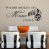 XCSJX Error de Habla música Lugar para Hablar Etiqueta de la Pared Nota Musical decoración del hogar Vinilo calcomanía de Pared para Sala de Estar 241x100 cm