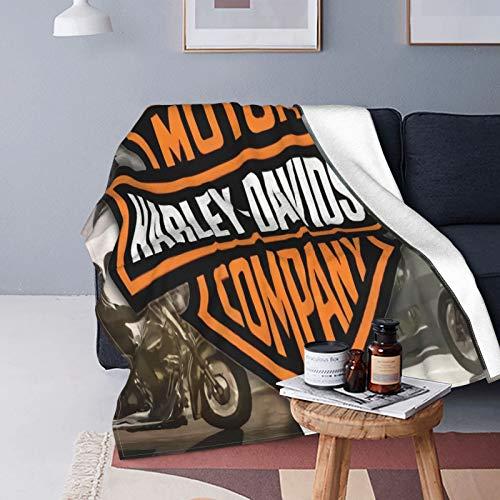 Manta infantil Harley Davidson para sofá o cama de 127 x 152 cm para todas las estaciones