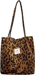 AioTio Damen Handtasche Umhängetasche Damen Handtasche Groß stofftasche einkaufstasche (Leopard)