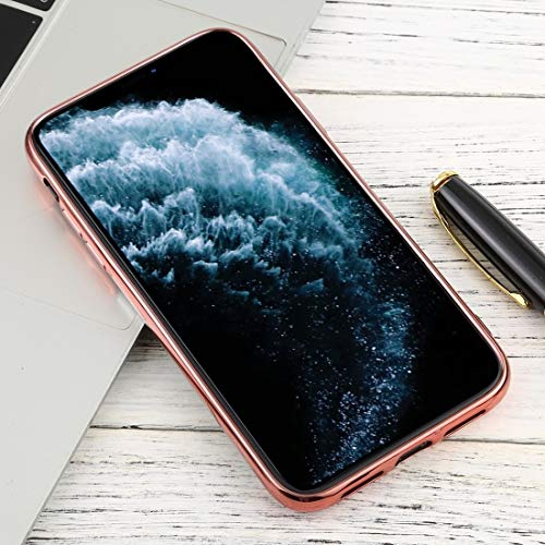 Xyamzhnn For iPhone 11 Pro Transparente TPU Anti-Gota y la Caja Protectora Impermeable del teléfono móvil de protección Total (Color : Rose Gold)