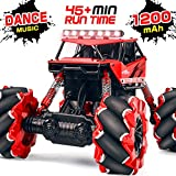 Remote Control Car NQD 1:16 Off Road Monster Truck 4WD All Terrain RC Truck 360 Rotation Rechargeable Electric Vehicle with Head Lights